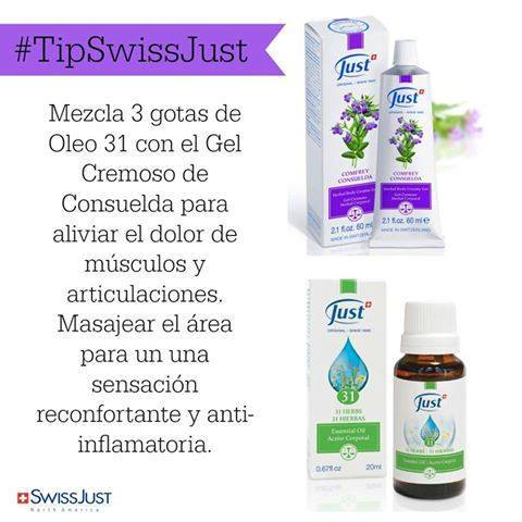 #TipSwissJust #AlivioNatural