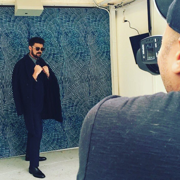 Throwback to #BTS look with @StarTrekMovie star @KarlUrban for the September issue of @sharpmagazine #TBT #WFASHION https://t.co/Q47IykVAOp