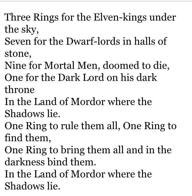 One Ring To Rule Them All Ring To Find Them One Ring To: Alexander Pack (@alpackaP)