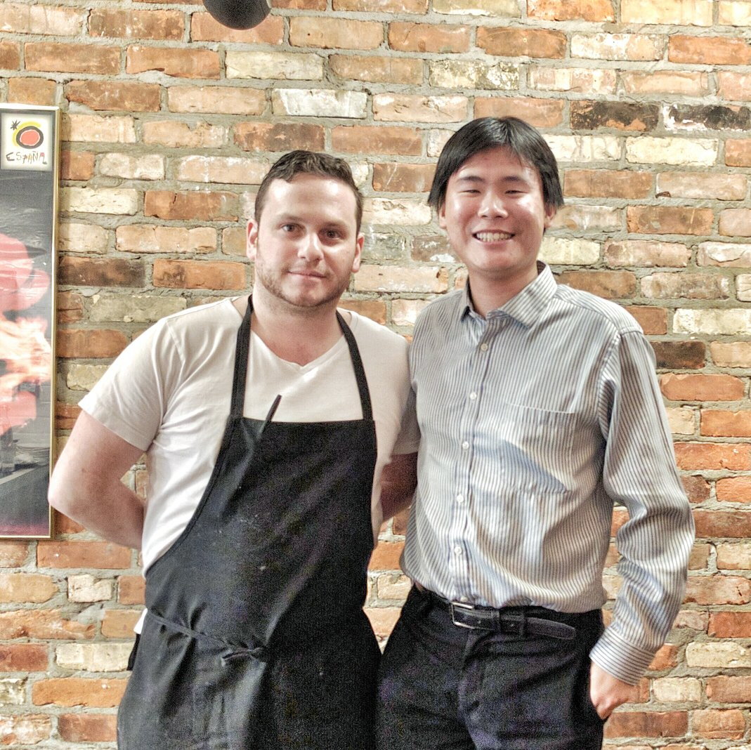 Chef Ariel Coplan with Travelling Foodie at Thoroughbred Food & Drink, Toronto