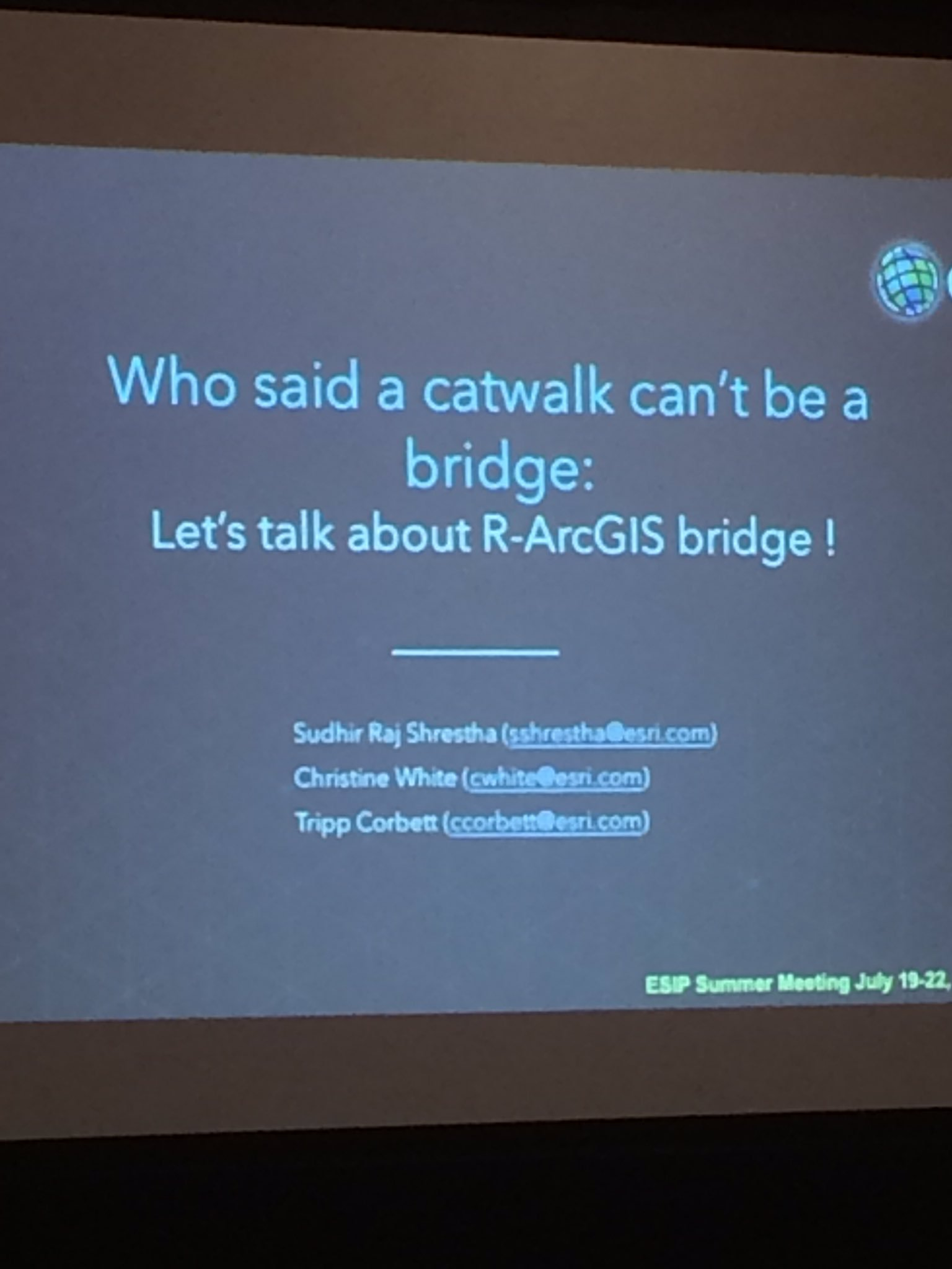 #ArcGIS #RBridge #R #ESIPfed #catwalk #ESRI https://t.co/m4N9vv8f8s