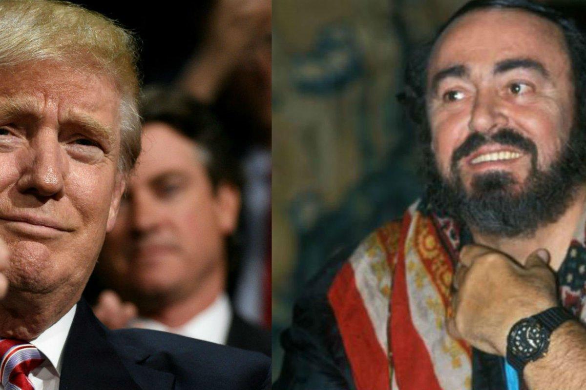 Donald Trump e Luciano Pavarotti? Sono incompatibili