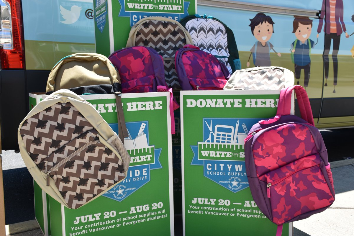 vancouver public schools on twitter thank you costco 400 backpacks supplies for write from the start vpssuccess vps_fcrc foundationvps t_shoup