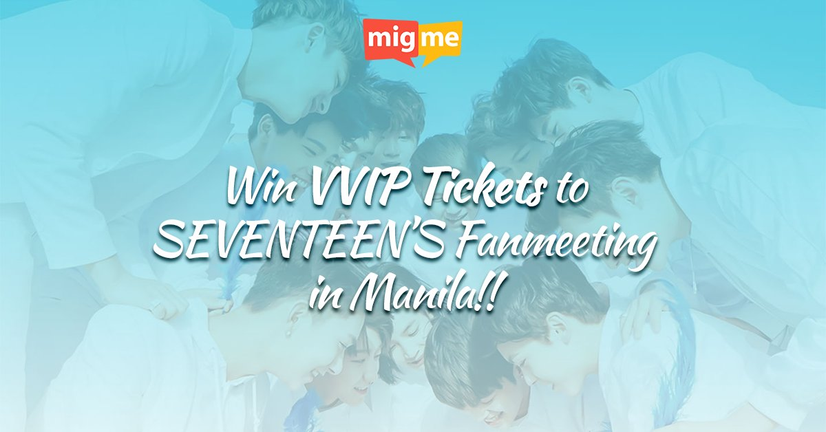 CALLING ALL PH CARATS! Win VVIP TICKETS to Seventeen's Shining Diamonds Live in Manila 2016! https://t.co/CN1JfKhRXl https://t.co/sdFHaYN4Z5