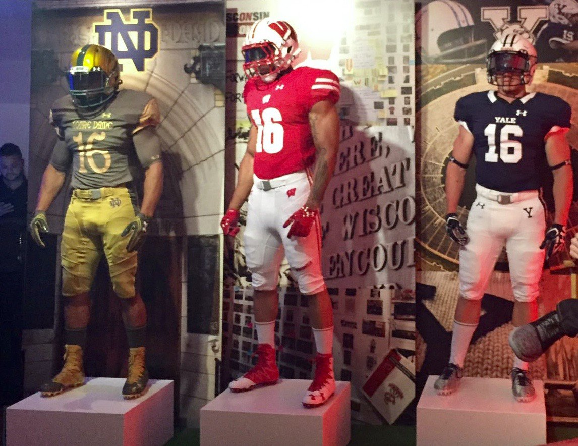 super popular 9bf09 285e6 New Unis for Notre Dame, Wisconsin, and Yale