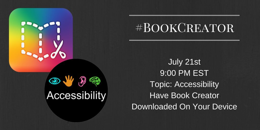 Thumbnail for #BookCreator Chat 7/21/2016