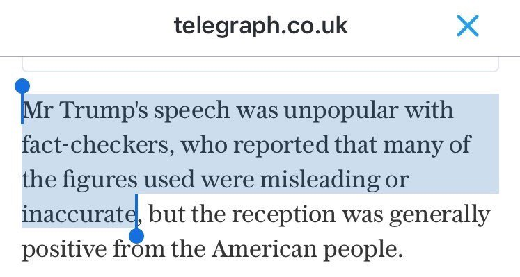 'Unpopular with fact-checkers' is a peculiar way of saying 'full of lies'. Facts are not a matter of opinion. https://t.co/N2RXdfNlJC