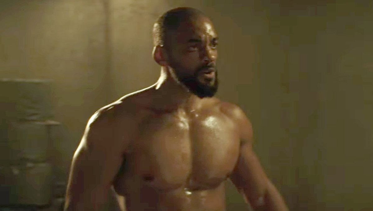 Will smith is shirtless and ripped in this new #