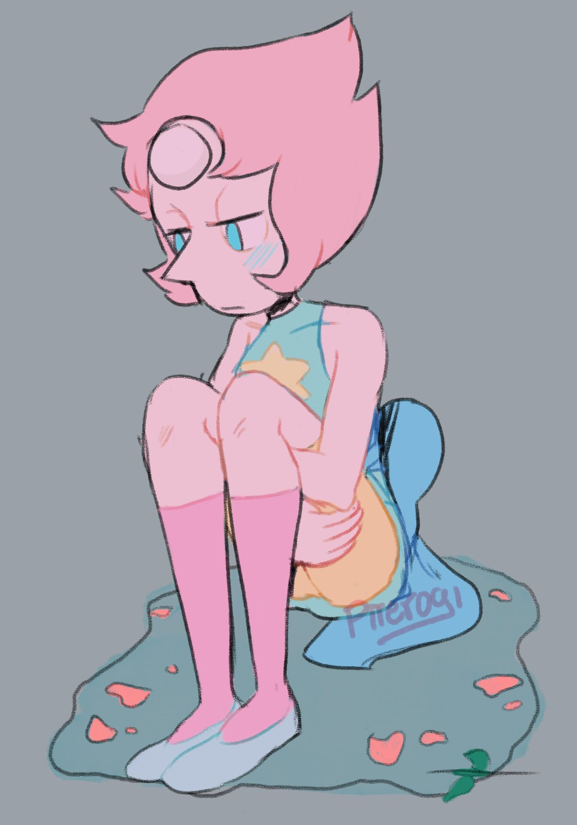 """""Who am I now in a world without her, petty and dull with the nerve to doubt her.."" #StevenUniverse #Pearl"""