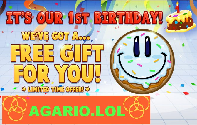 """Agario Lol agario lol on twitter: """"it's our 1st birthday! happy games… """""""
