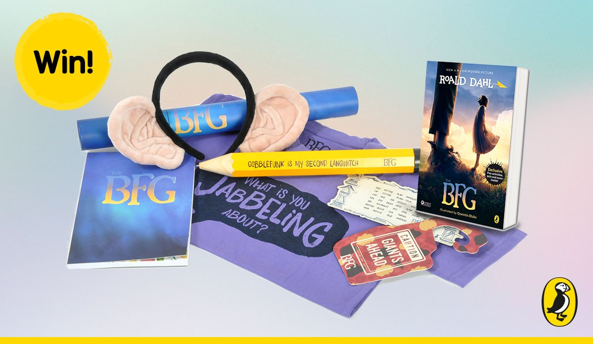 By gumfrog! We've one GIANT bundle of #TheBFG goodies to giveaway today! Follow us and RT for a chance to #win. https://t.co/ybZwx0ZsrQ