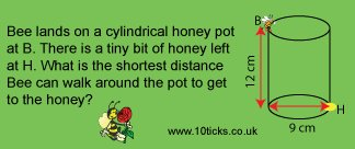 #FridayPuzzle: The cylinder has height 12 cm and diameter 9 cm. Get buzzing. Answer to 1 dp #10ticks https://t.co/ZNrHw04dUZ