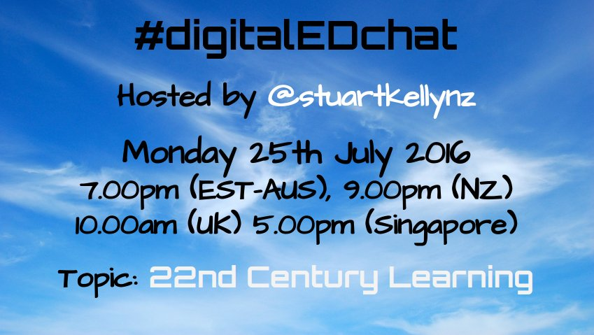 #digitaledchat is back Monday! Join us for great fun & awesome learning. #aussieED #includEDau #ukedchat #edchat https://t.co/r2C7DkZC2e