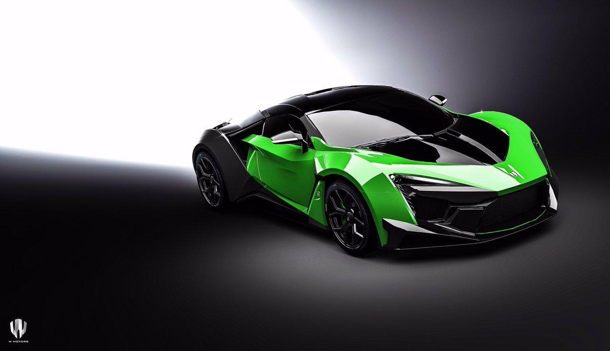 "W Motors Fenyr >> W Motors on Twitter: ""The Acid Green W Motors Fenyr SuperSport is spectacular. Which colours ..."