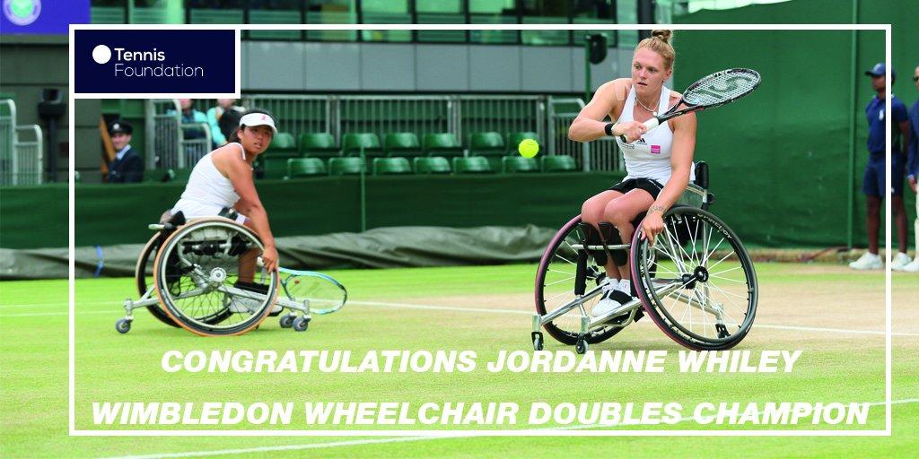 2nd #Wimbledon champion of the day!!!! Congratulations @jordannejoyce9 #WimbledonFinals #BackTheBrits