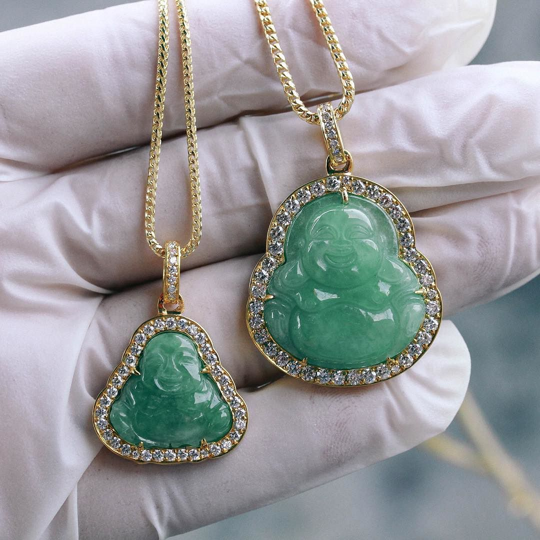 If co on twitter 14kt solid micro milli jade buddha pendant never miss a moment mozeypictures Choice Image