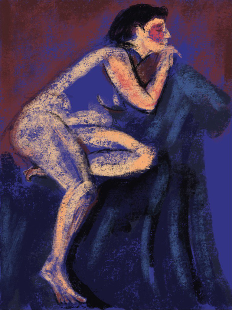 'Blue Lady', 2016, #LifeDrawing using #Procreate #FollowArt #Draw365 https://t.co/K5Xzx1ywFO