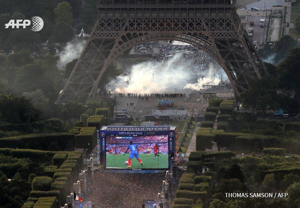 Անկարգություններ Փարիզում` Եվրո-2016-ի եզրափակիչի ժամանակ