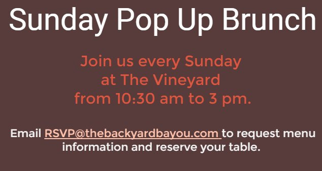 Backyard Bayou followed - Backyard Bayou (@BackyardBayouCA) Twitter