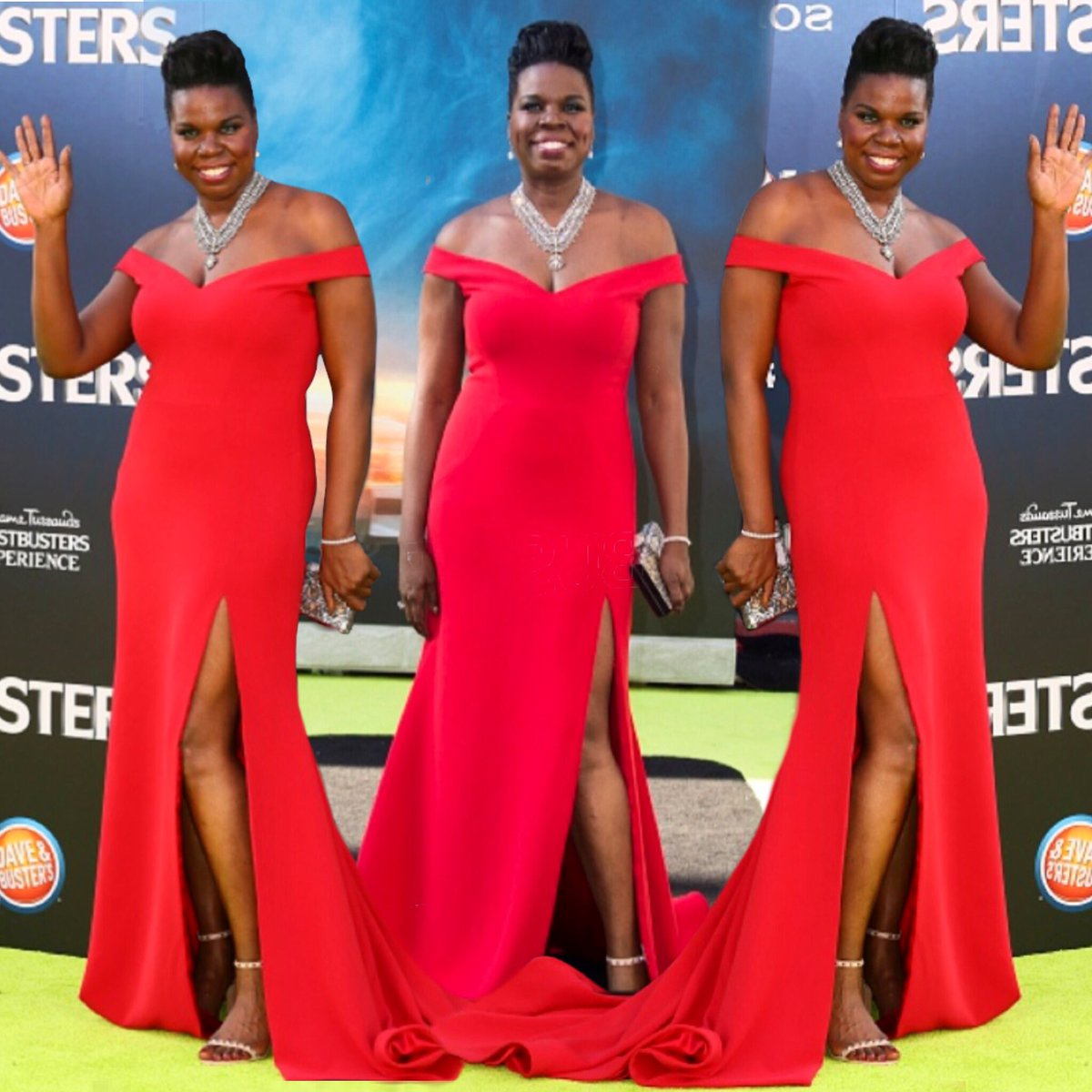 Now that's how you do it! Simple, elegant, and chic!! @Lesdoggg at the premiere of #Ghostbusters wearing Siriano! https://t.co/gz3CmGFGaL