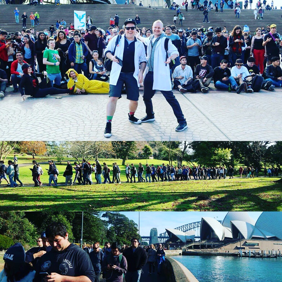So yesterday me and @jiggsy we went for a walk in Sydney with a few friends... #PokeGOwalk (photo by @raejohnston) https://t.co/kgnd0Bbhz8