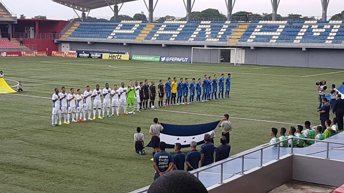 Eliminatorias UNCAF 2016: El Salvador 1 Honduras 2. CnCchLuVUAAz_ZI