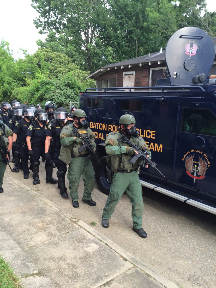 'This isn't Baghdad — it's Baton Rouge': Chaos in Louisiana as 'militarized' police clash with protesters