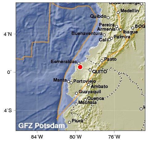 Doppia e violenta scossa di terremoto in Ecuador