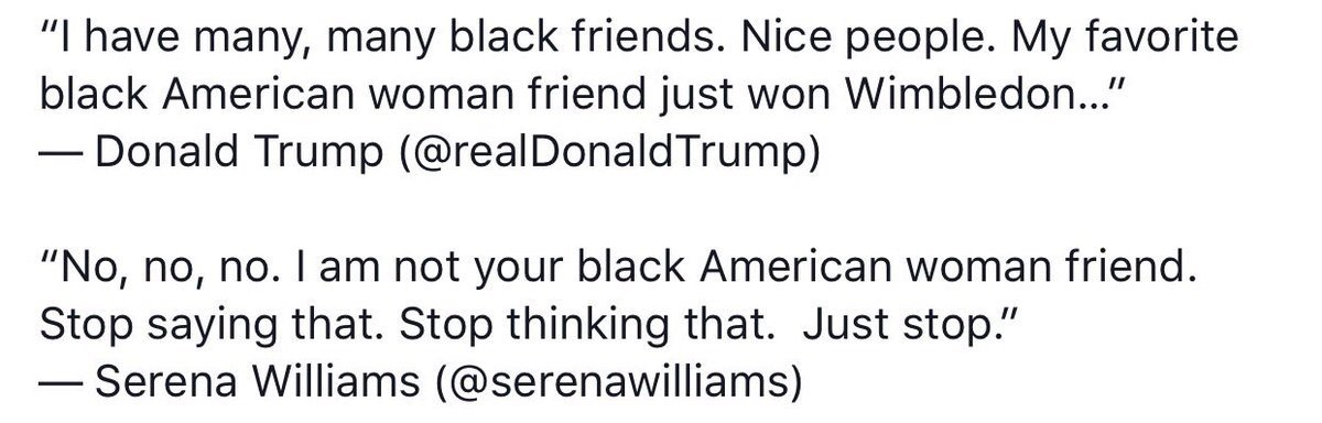 .@realDonaldTrump trying to lie about @serenawilliams and she busted him! https://t.co/xzkPhF3vSG