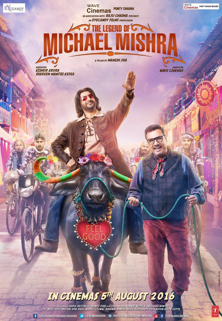 The Legend Of Michael Mishra Poster starring Arshad Warsi, Boman Irani, Aditi Rao Hydari