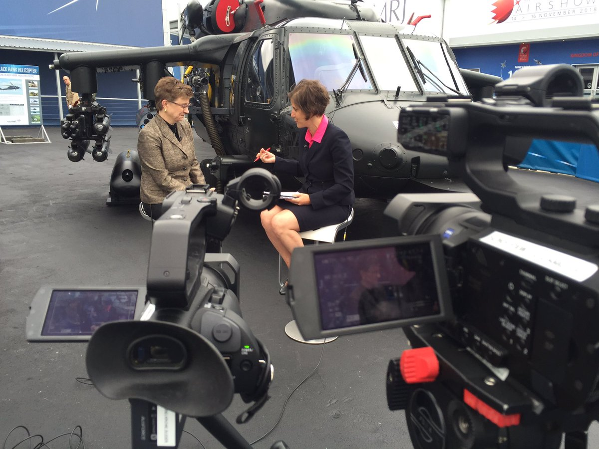 .@LockheedMartin Lorraine Martin and @FedEdJill talk F-35 ALIS & @Sikorsky at #FAS2016