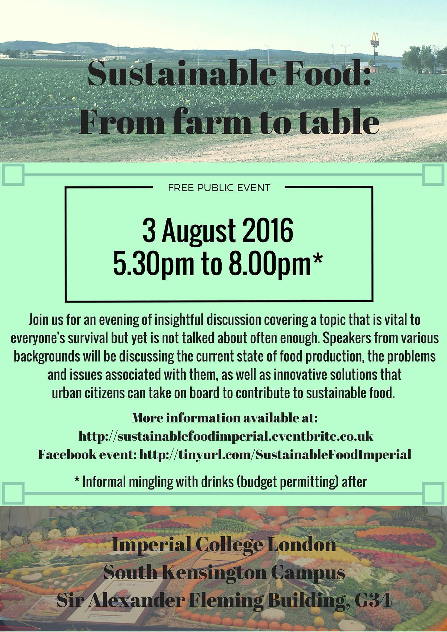 Interested in #sustainable food? Join us @imperialcollege on 3 Aug for a public symposium https://t.co/evJhYF3Qle https://t.co/C0sBYbue9Z