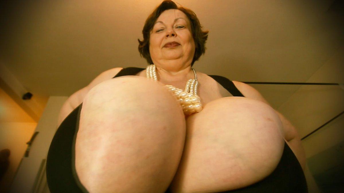 Female builder naked body breast