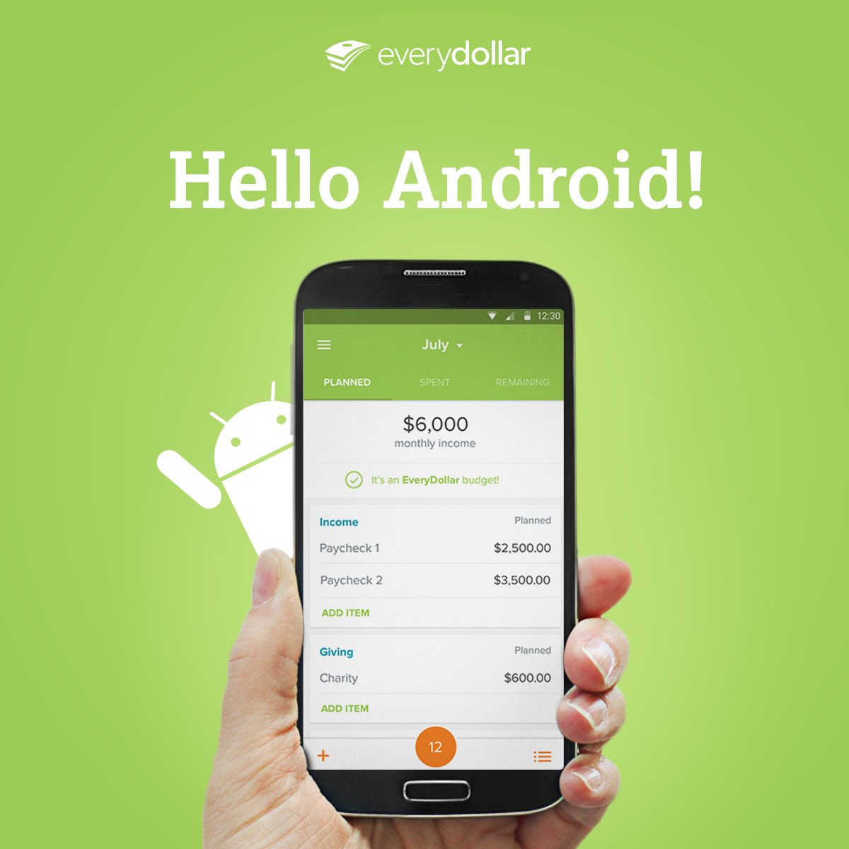 Everydollar On Twitter The Is Now Available For Android Budgeters Check It Out Https T Co 8zphstqyrr