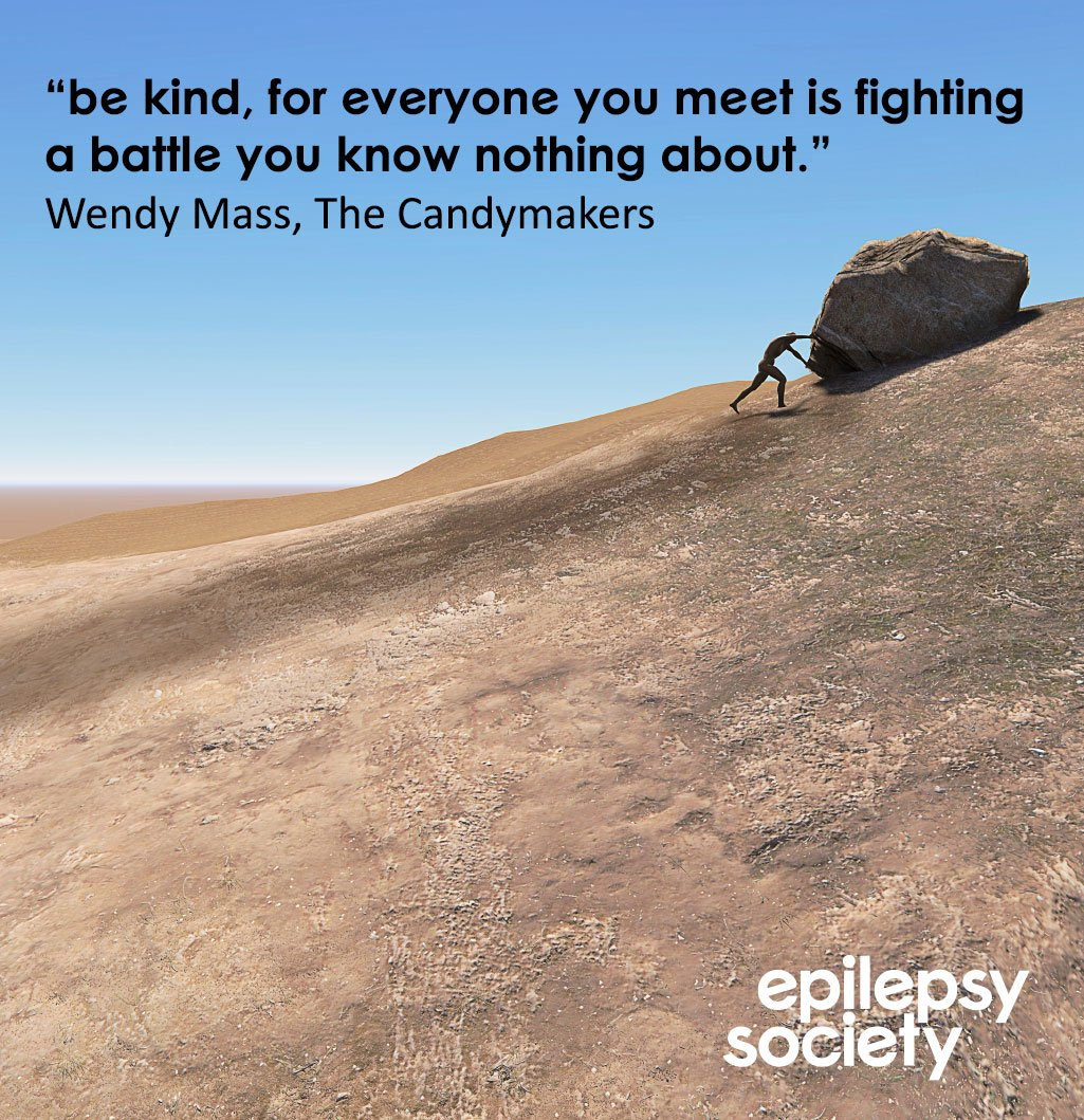'Be kind, for everyone you meet is fighting a battle you know nothing about' #mondaymotivation #epilepsyawareness https://t.co/hJnEoIFK4s