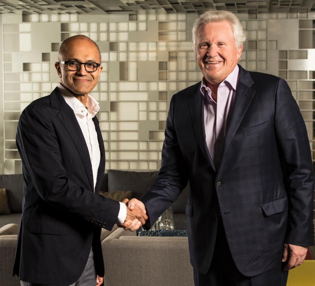 #MSFT CEO @satyanadella + GE CEO @JeffImmelt announced a partnership at #WPC16. Learn more https://t.co/f9hYvLez7J https://t.co/eYrs4s44L1