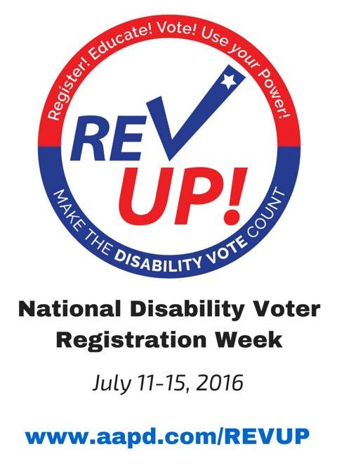 Today kicks off National Disability Voter Registration Week!  https://t.co/imtJocyt6t #REVUP #VoteDisability https://t.co/3dTYMBMMzu