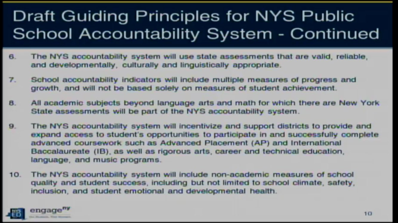 Principles 6-10 on #ESSA from @NYSEDNews presentation @NYSPTA @NationalPTA https://t.co/vXSGGbZb9k