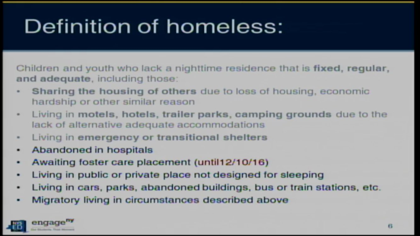 What does homeless mean? We must find ways to support all families @NYSPTA https://t.co/34nKFjiiSt