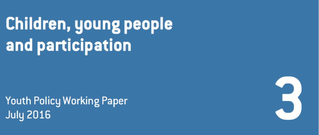 """Read our latest Youth Policy Working Paper, """"Children, Young People, and Participation"""" https://t.co/Dpv1rlmqZH https://t.co/461UG8Vd5A"""