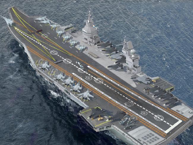 """حاملة الطائرات الروسيه النوويه المستقبليه  Shtorm """"  Project 23000E """" CnGOrB4WcAA1RFC"""