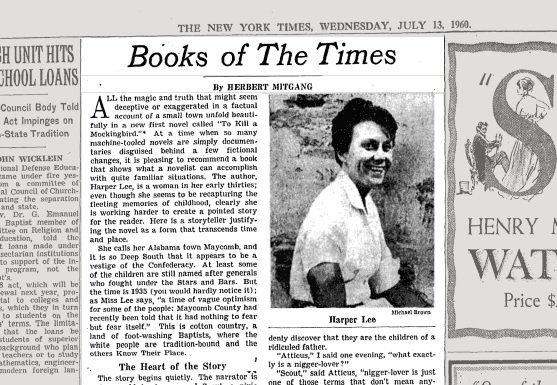 to kill a mockingbird newspaper article To kill a mockingbird- paper written like a newspaper article about the trial of tom robinson (2004, february 05) in writeworkcom retrieved 21:04, october 12.