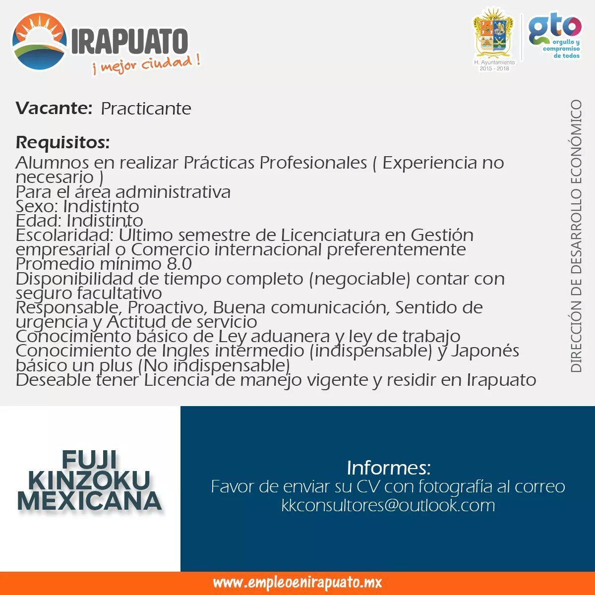 Las últimas ofertas de empleo y trabajo en Irapuato, Gto.. Opciónempleo, el buscador de empleos. Cubrimos todas las industrias.