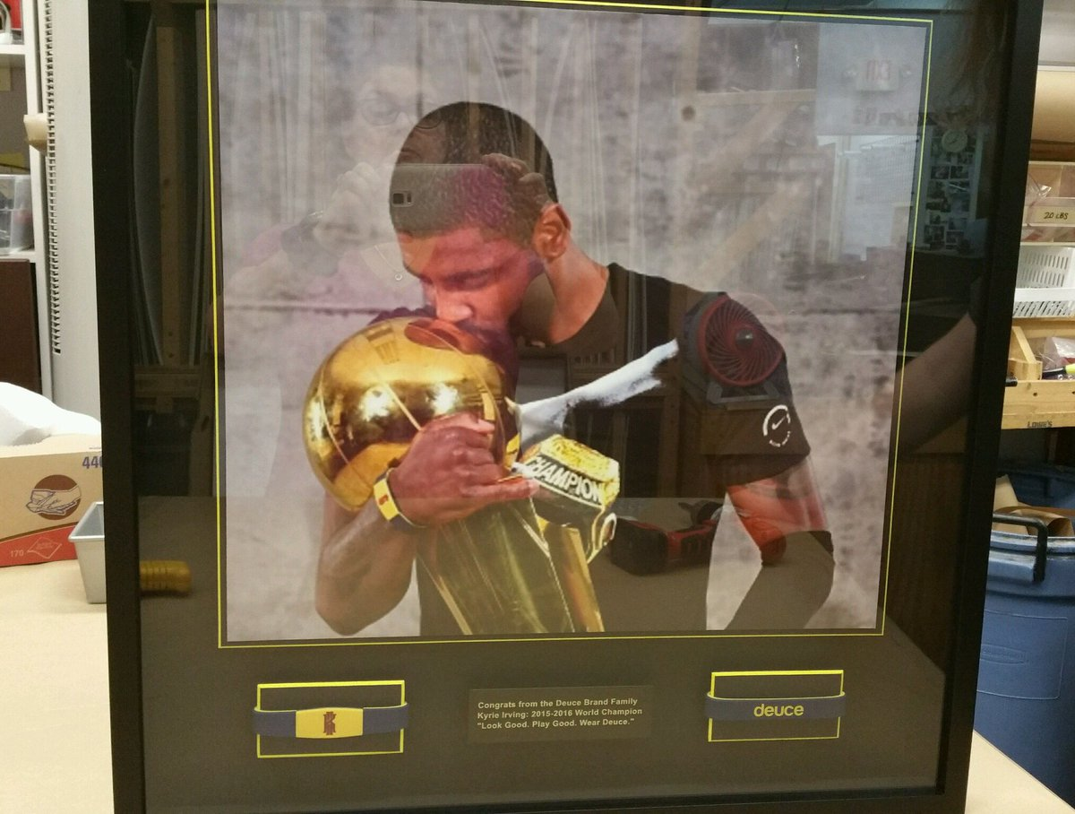 Congrats to @KyrieIrving and the @cavs on winning the title! S/O to Kyrie for always rockin Deuce in games