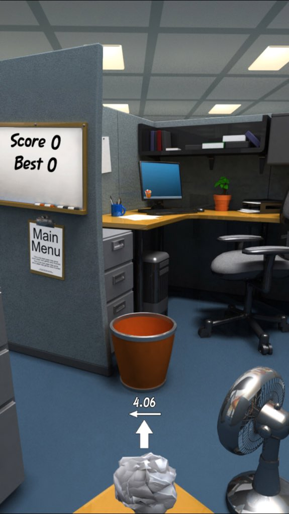 Paper toss Android apk game Paper toss free download for