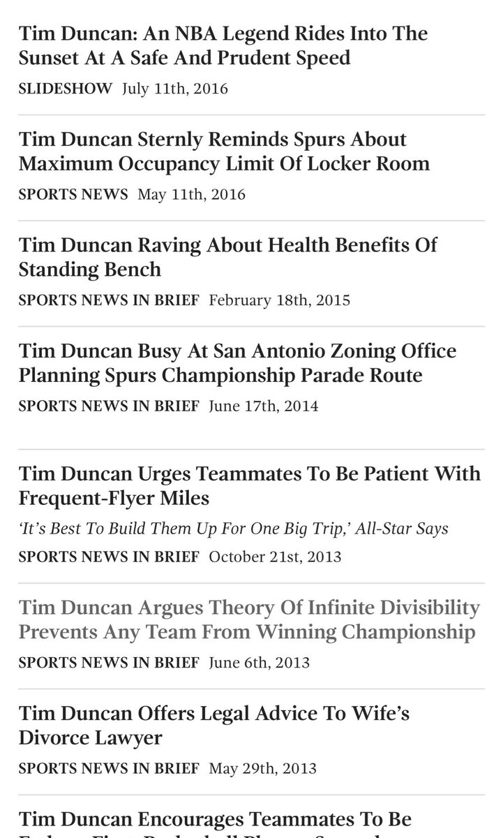 The @TheOnion's Tim Duncan search results page is the best tribute the man can get https://t.co/RpHVcSysNg https://t.co/GJWcpnhWNv