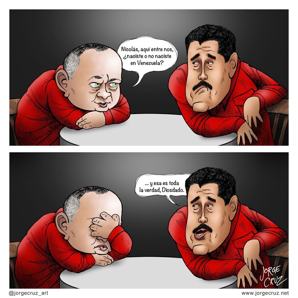 Resultado de imagen para Caricaturas de Maduro y Diosdado