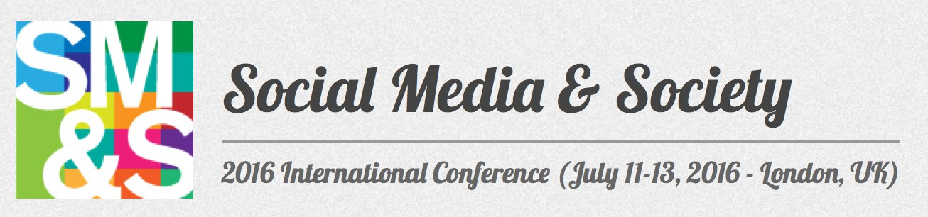 DAY 1: Intl: Social Media & Society{London}JULY 11-13, 2016 #SMSociety Curation by @nxtstop1 https://t.co/7YhwssxmGz https://t.co/Saim727AH4