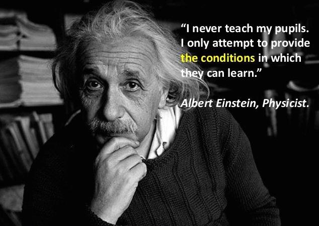 Albert Einstein, ma loon võimalused õppimiseks