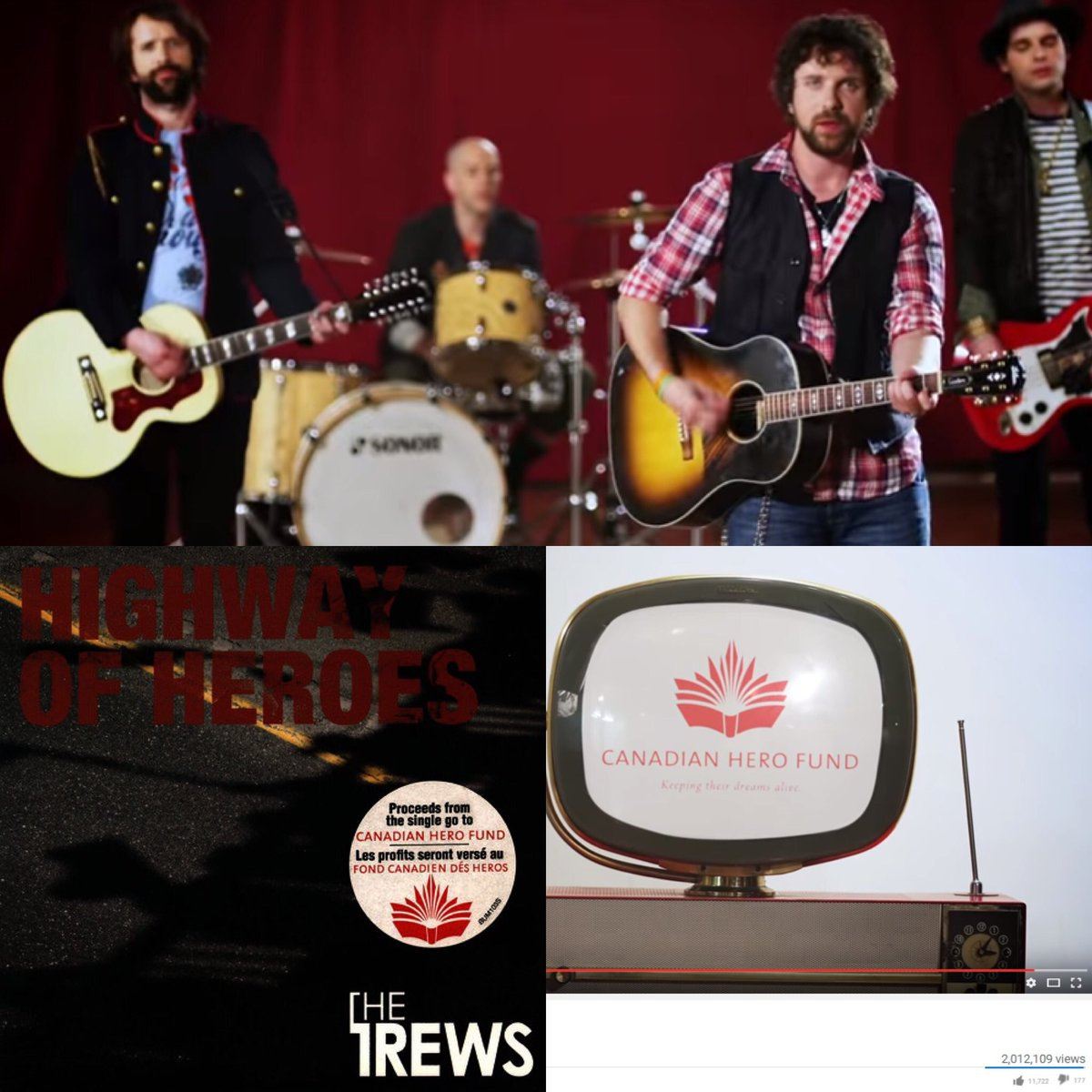 Incredible! Over 2M views of Highway of Heroes by @thetrews in support of @herofund #sot #canada #music #cdnpoli https://t.co/qqdMD7C77l